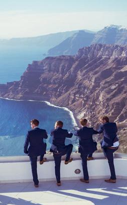 Get married in Santorini